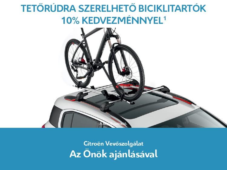 Tetőcsomagtartóra szerelhető biciklitartók 10% kedvezménnyel
