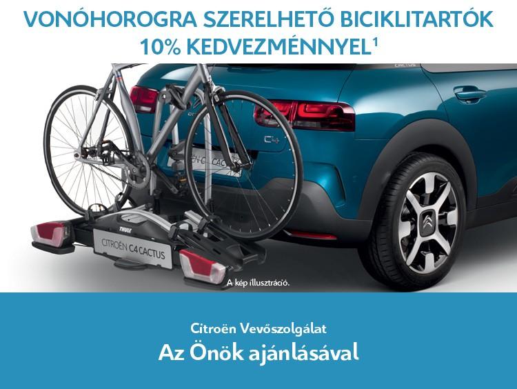 Vonóhorogra szerelhető biciklitartók 10% kedvezménnyel